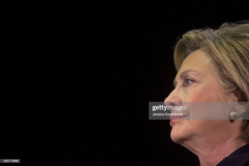 Democratic presidential candidate Hillary Clinton during at a campaign event at Camden County College on May 11, 2016 in Blackwood, New Jersey. Residents of New Jersey will vote in the Democratic primary on June 7, 2016.