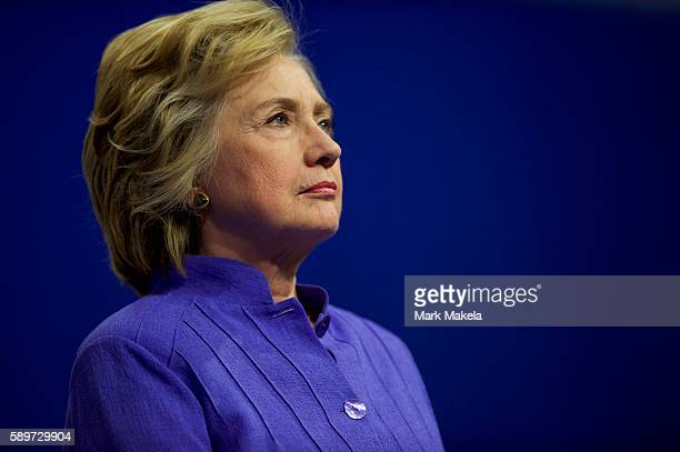 Democratic Presidential candidate Hillary Clinton holds a rally with Vice President Joe Biden at Riverfront Sports athletic facility on August 15...