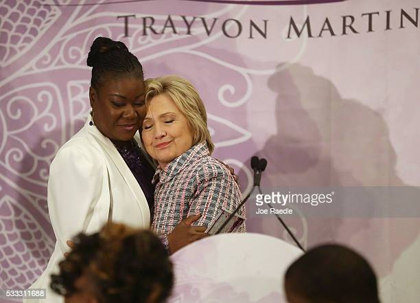 Democratic presidential candidate Hillary Clinton hugs Sybrina Fulton, mother of Trayvon Martin who was fatally shot by neighborhood watch volunteer...