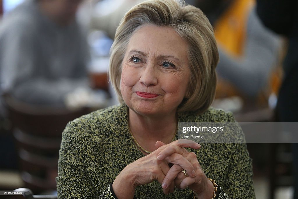 Democratic Presidential Candidate Hillary Clinton Campaigns In Indiana : News Photo
