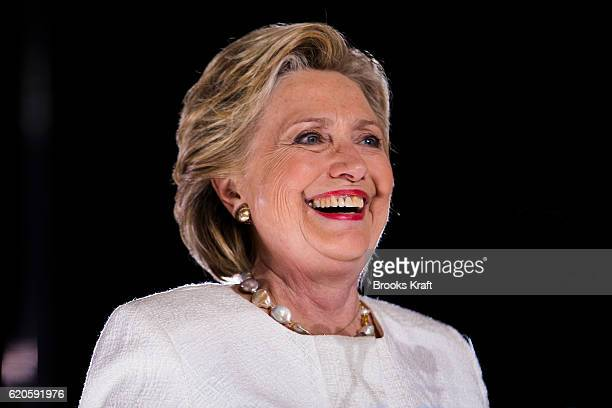 Democratic Presidential candidate Hillary Clinton participates in a campaign rally November 1 2016 in Sanford FL