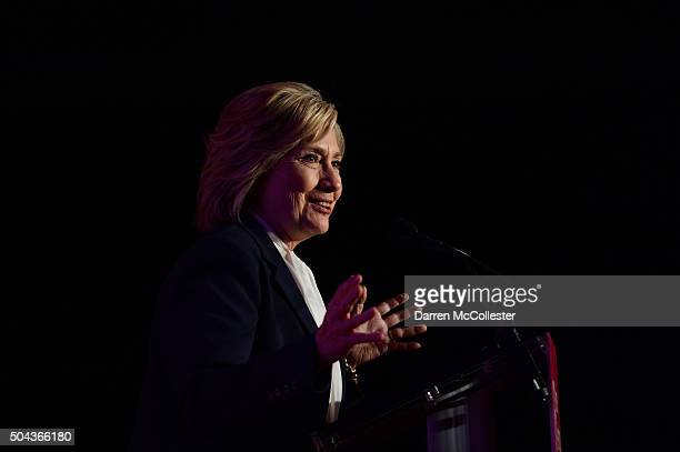 Democratic Presidential candidate Hillary Clinton speaks after receiving an endorsement from Planned Parenthood Action Fund at Southern New Hampshire...