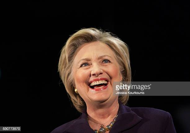 Democratic presidential candidate Hillary Clinton speaks at a campaign event at Camden County College on May 11 2016 in Blackwood New Jersey...