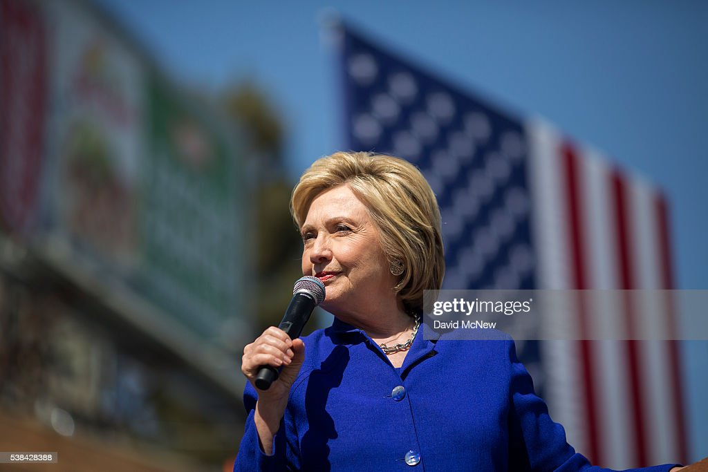 Hillary Clinton Attends Get Out The Vote Rally In Los Angeles