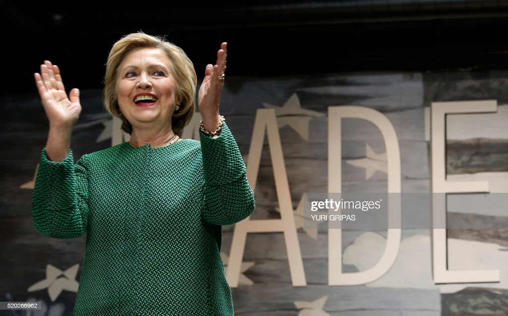 Democratic presidential candidate Hillary Clinton speaks during a grassroots event in Baltimore, Maryland on April 10, 2016. /
