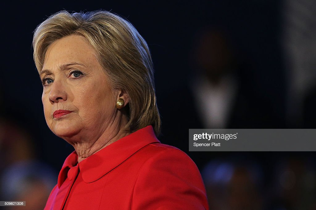 """Hillary Clinton Holds """"Corridor Of Opportunity"""" Town Hall In SC : News Photo"""