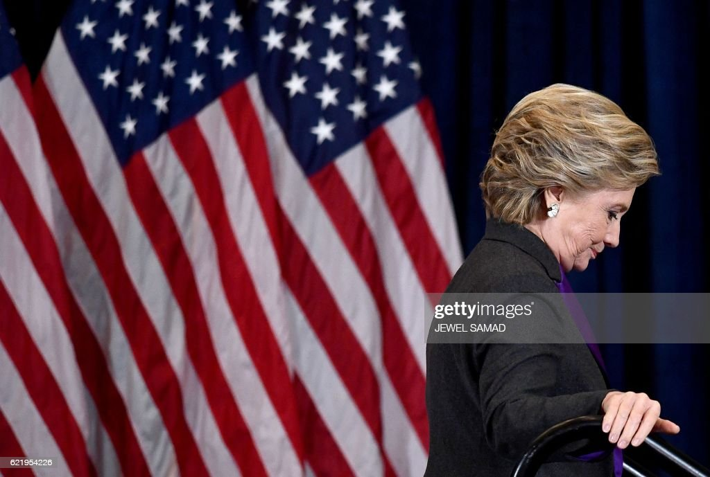 TOPSHOT-US-VOTE-CLINTON : Nyhetsfoto