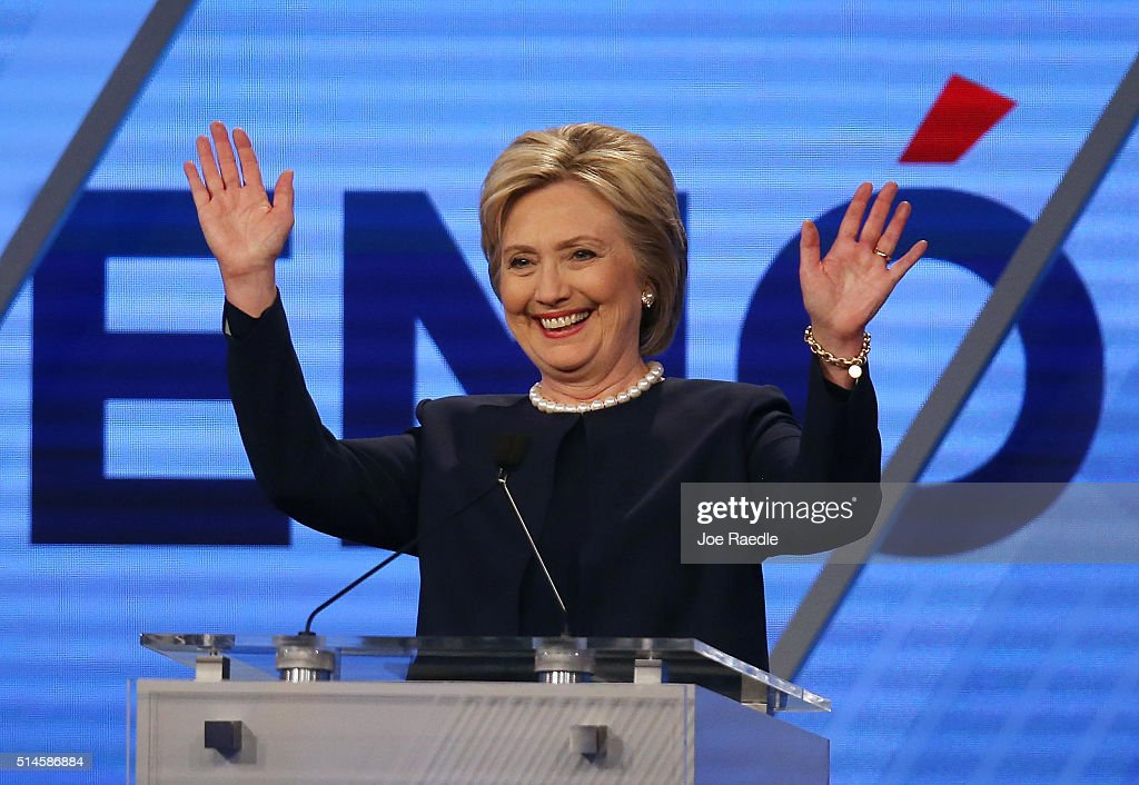 Democratic Presidential Candidates Debate In Miami : News Photo