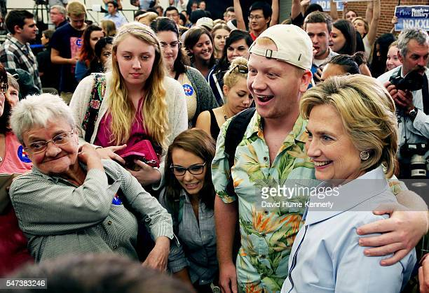 Democratic presidential candidate Hillary Rodham Clinton campaigning at the University of New Hampshire Durham September 18 2015