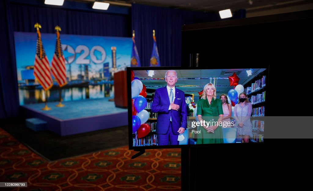 Democrats Hold Unprecedented Virtual Convention From Milwaukee : ニュース写真
