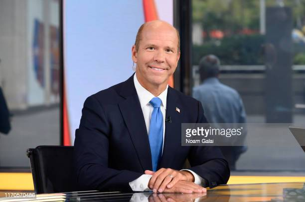 Democratic presidential candidate John Delaney visits 'Outnumbered Overtime' with host Shannon Bream at FOX Studios on August 27 2019 in New York City