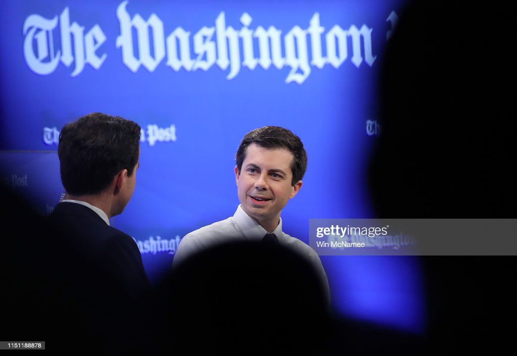 DC: Democratic Presidential Candidate Pete Buttigieg Interviewed At The Washington Post