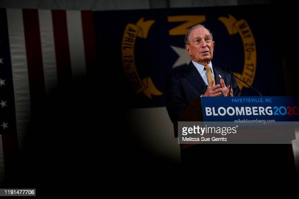 Democratic Presidential candidate Michael Bloomberg answers questions from members of the media at the Metropolitan Room on January 3, 2020 in...