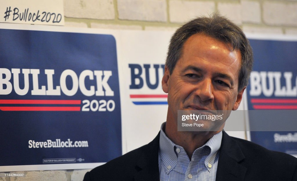 IA: Democratic Presidential Candidate Steve Bullock Campaigns In Iowa
