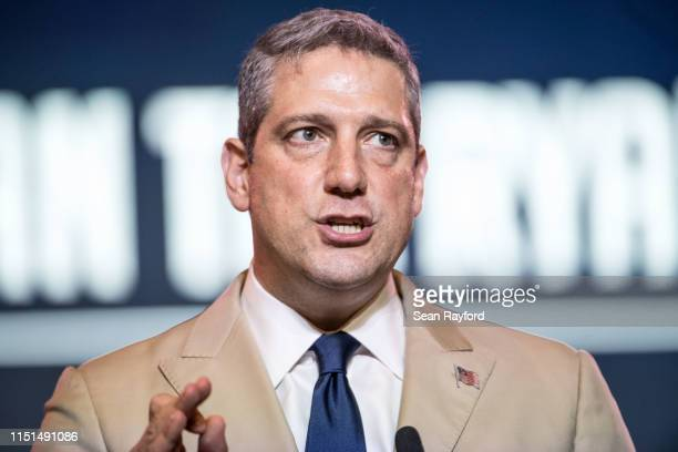 Democratic presidential candidate, Rep. Tim Ryan speaks to the crowd during the 2019 South Carolina Democratic Party State Convention on June 22,...