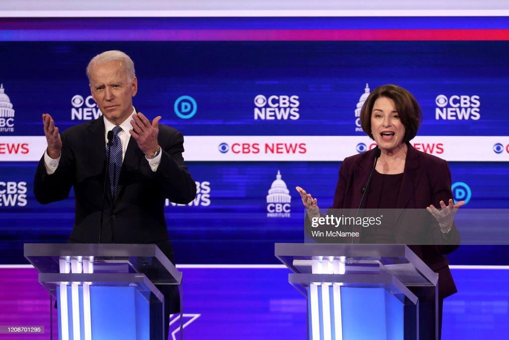 Democratic Presidential Candidates Debate In Charleston Ahead Of SC Primary : News Photo