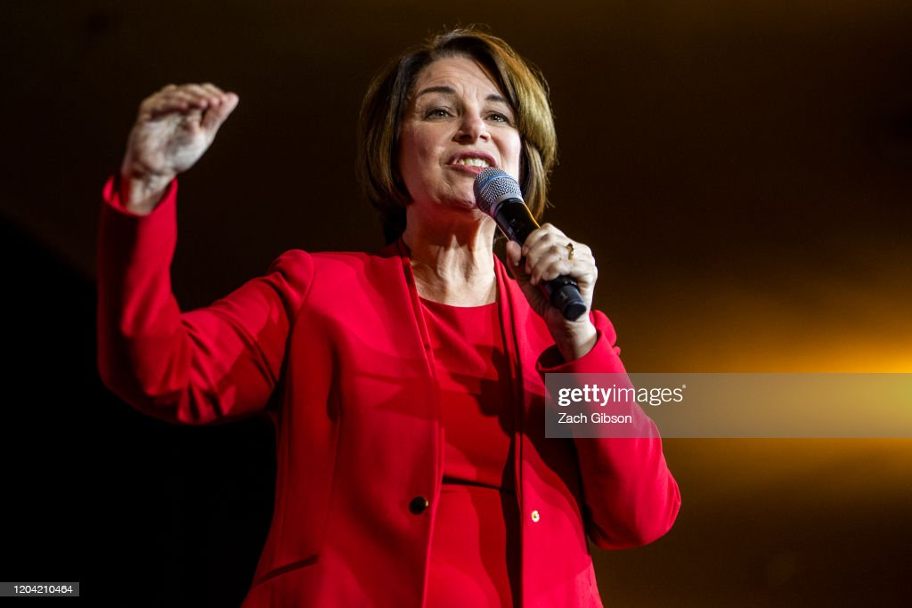 Presidential Candidate Amy Klobuchar Campaigns In Virginia Ahead Of Super Tuesday : News Photo