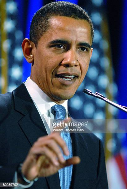 Democratic Presidential candidate Sen. Barack Obama speaks during a major address on race and politics, March 18, 2008 at the National Constitution...