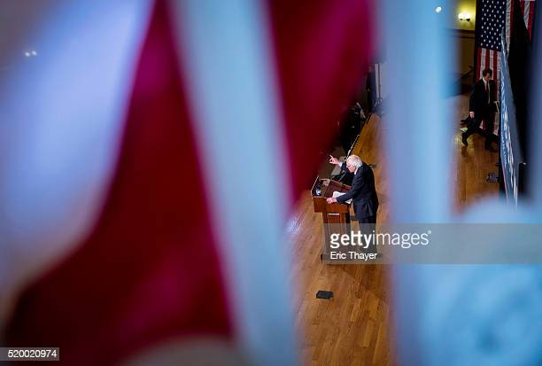 Democratic presidential candidate Sen. Bernie Sanders attends a campaign rally at Bronx Community College on April 9, 2016 in the Bronx borough of...