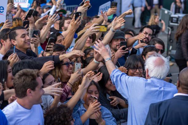 CA: Bernie Sanders Holds Get Out The Vote Rally In Santa Ana, CA