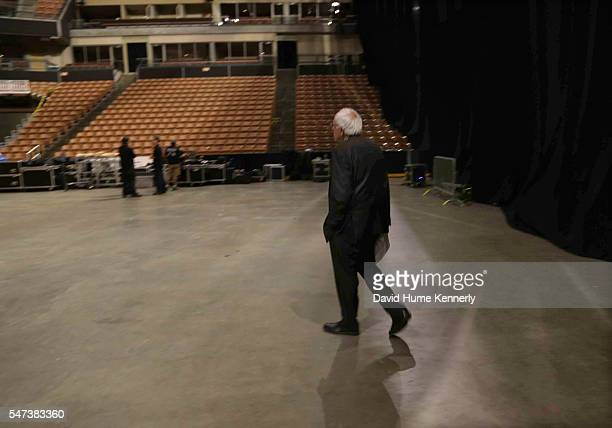 Democratic presidential candidate Sen. Bernie Sanders of Vermont prepares for the New Hampshire Democratic Party Convention . Exclusive backstage...