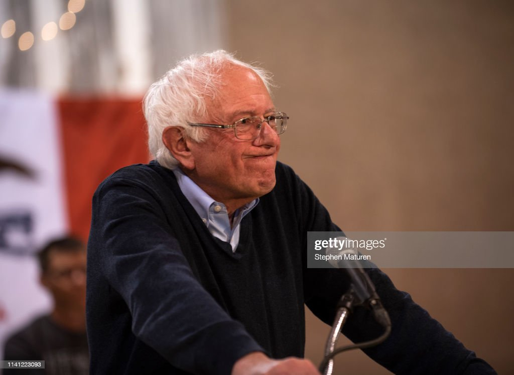 Bernie Sanders Holds Campaign Town Hall In Fort Dodge, Iowa : News Photo