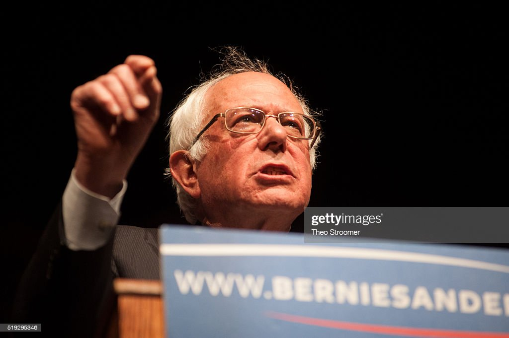 Democratic Presidential Candidate Bernie Sanders Holds Rally In Laramie, Wyoming : News Photo
