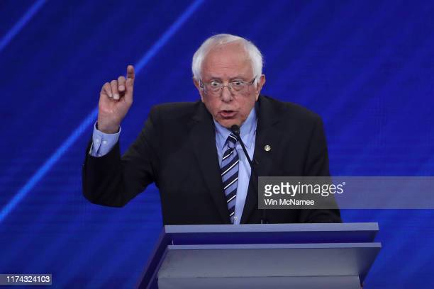 Democratic presidential candidate Sen. Bernie Sanders speaks during the Democratic Presidential Debate at Texas Southern University's Health and PE...