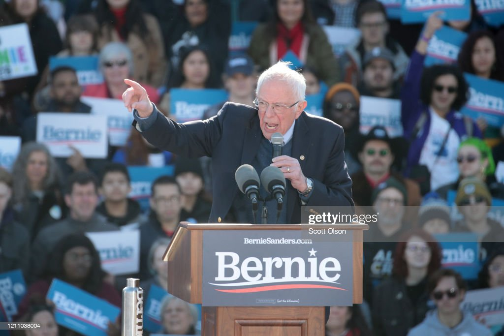 Presidential Candidate Bernie Sanders Holds Campaign Rally In Chicago : News Photo