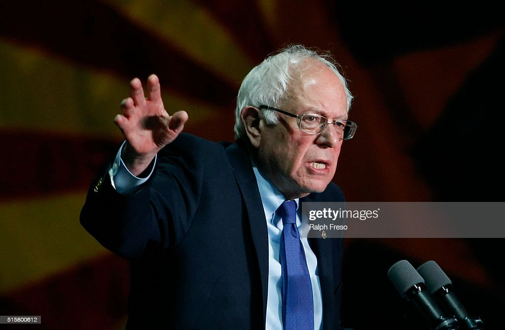 Presidential Candidate Bernie Sanders Holds Primary Night Rally In Phoenix, Arizona : News Photo