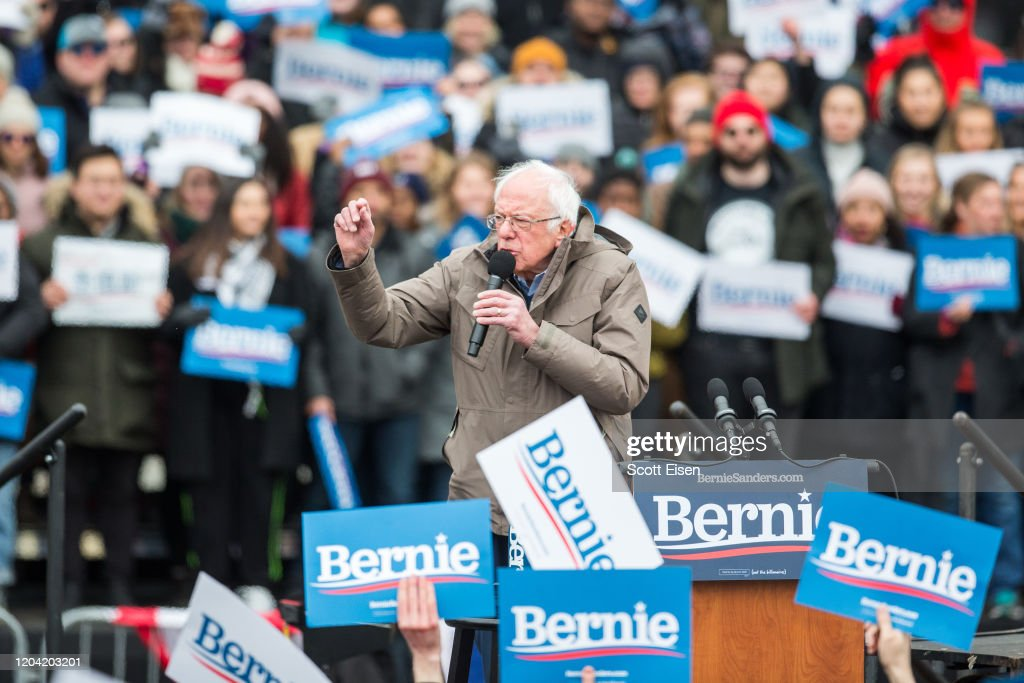 Presidential Candidate Bernie Sanders Holds Campaign Rally In Boston : Nieuwsfoto's