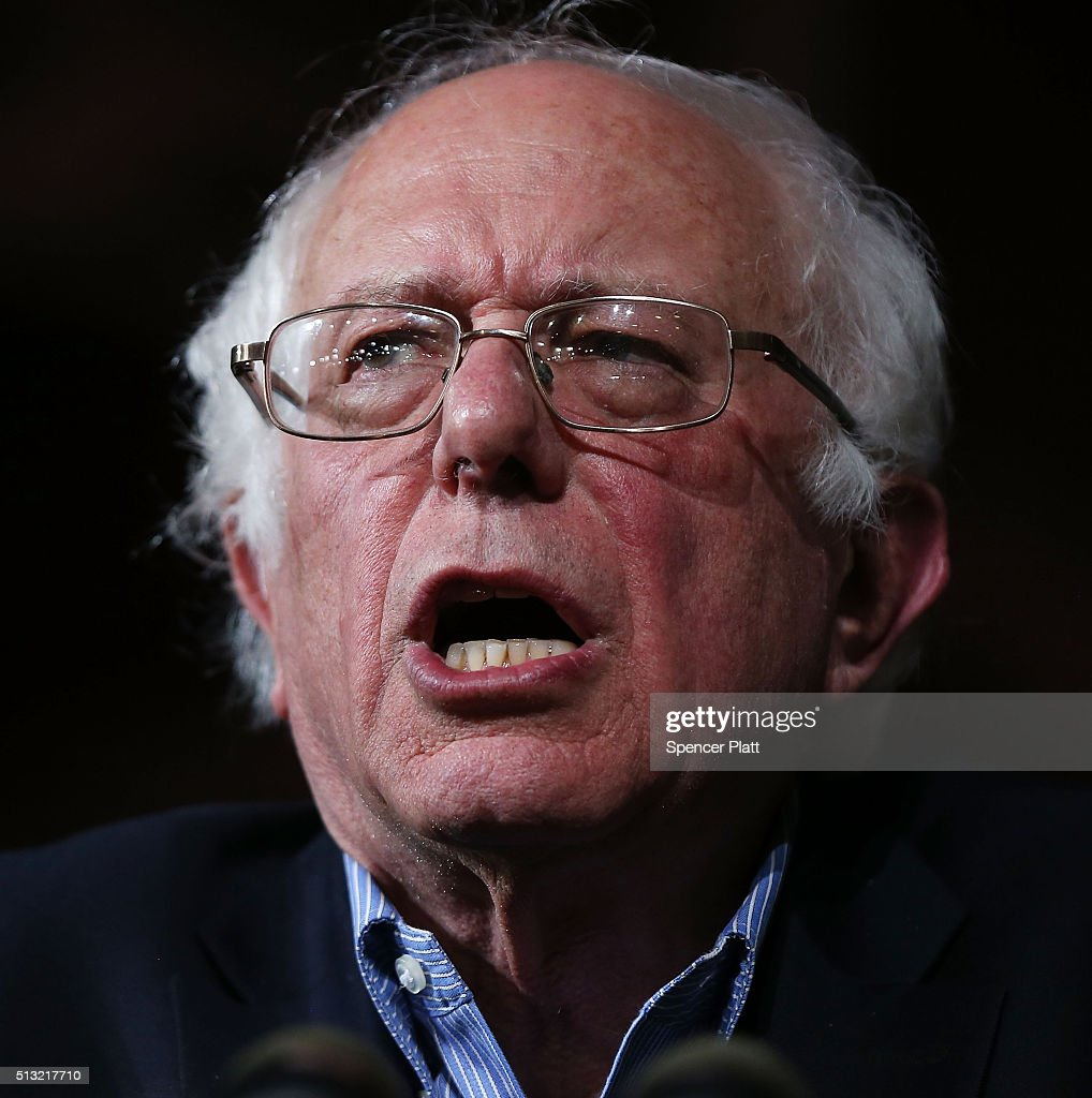 Bernie Sanders Holds Super Tuesday Campaign Rally In Vermont : News Photo