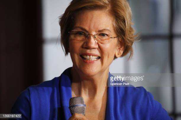Democratic presidential candidate Sen. Elizabeth Warren campaigns at the Maytag Events Complex on January 17, 2020 in Newton, Iowa. Warren, who is...