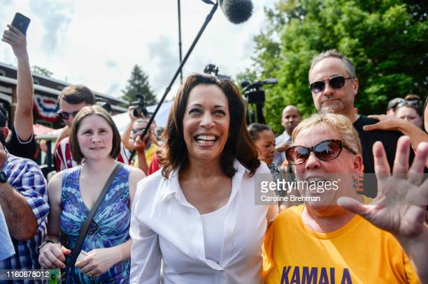 Democratic presidential candidate Sen Kamala Harris DCalif walks through the Iowa State Fair on Saturday August 10 2019