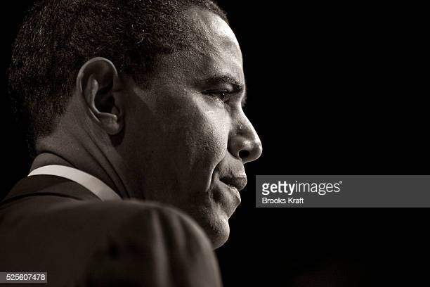 Democratic presidential candidate Senator Barack Obama speaks at the American Israel Public Affairs Committee policy conference in Washington DC