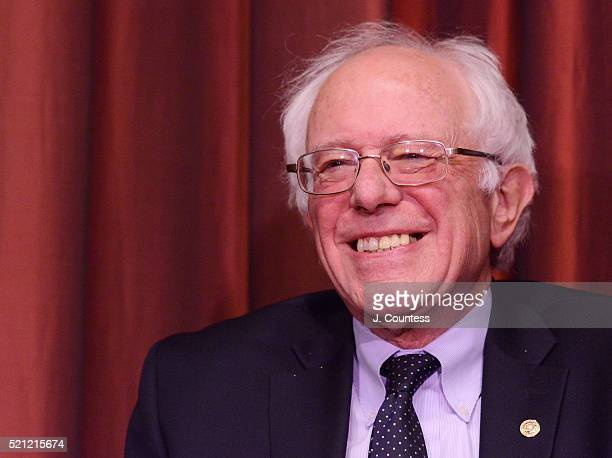 Democratic presidential candidate Senator Bernie Sanders attends Day 2 of the NAN 25th Anniversary National Convention at the New York Sheraton Hotel...