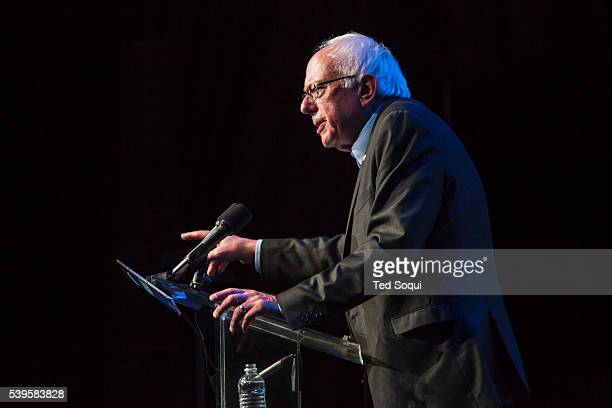 Democratic Presidential candidate Senator Bernie Sanders held a fundraiser and rally in Hollywood The fundraiser has a suggested $25 dollar donation...