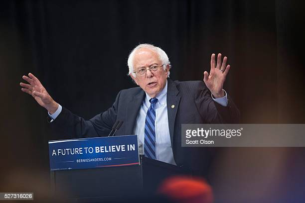 Democratic presidential candidate Senator Bernie Sanders speaks at a campaign event on the campus of Indiana University Purdue University Fort Wayne...