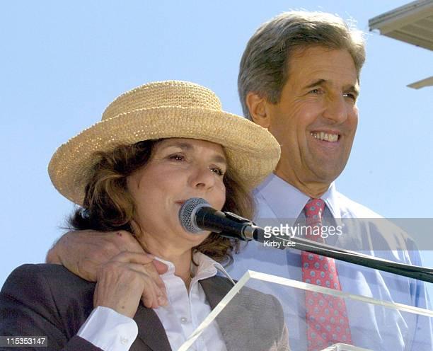 Democratic presidential candidate Senator John Kerry DMass and wife Teresa Heinz Kerry during Cinco de Mayo celebration