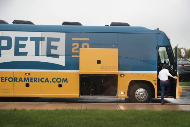 IA: Democratic Presidential Candidate Pete Buttigieg Goes On Four Day Bus Campaign Swing Through Iowa