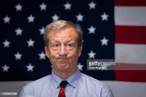 Democratic presidential candidate Tom Steyer at a town hall meeting on rural healthcare issues on February 27 2020 in Orangeburg South Carolina South...