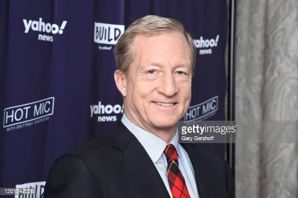 "Democratic Presidential candidate Tom Steyer attends ""Hot Mic with Brittany Shepherd"" during the Build Series at Build Studio on January 22 2020 in..."