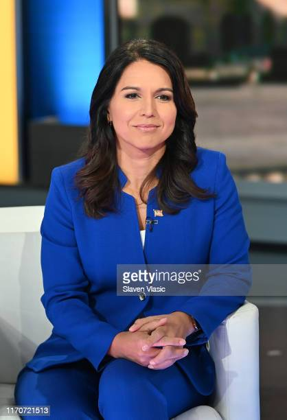 Democratic Presidential Candidate Tulsi Gabbard visits FOX Friends at Fox News Channel Studios on September 24 2019 in New York City