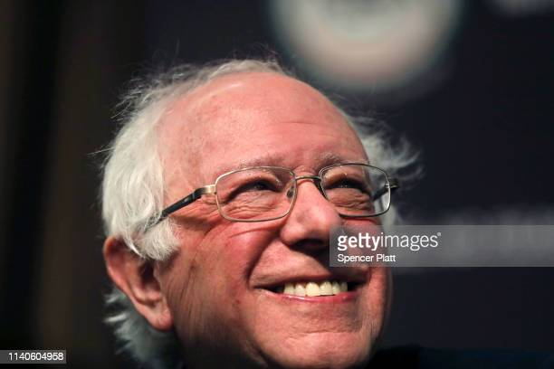 Democratic presidential candidate US Sen Bernie Sanders attends the National Action Network's annual convention on April 5 2019 in New York City A...