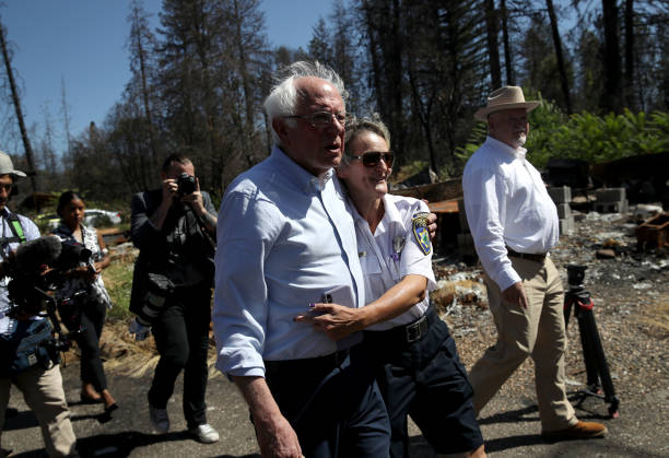 CA: Bernie Sanders Tours Site Of Paradise, CA Wildfire, Discusses Climate Crisis