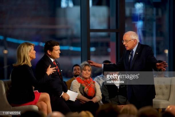 Democratic presidential candidate, U.S. Sen. Bernie Sanders participates in a FOX News Town Hall at SteelStacks on April 15, 2019 in Bethlehem,...