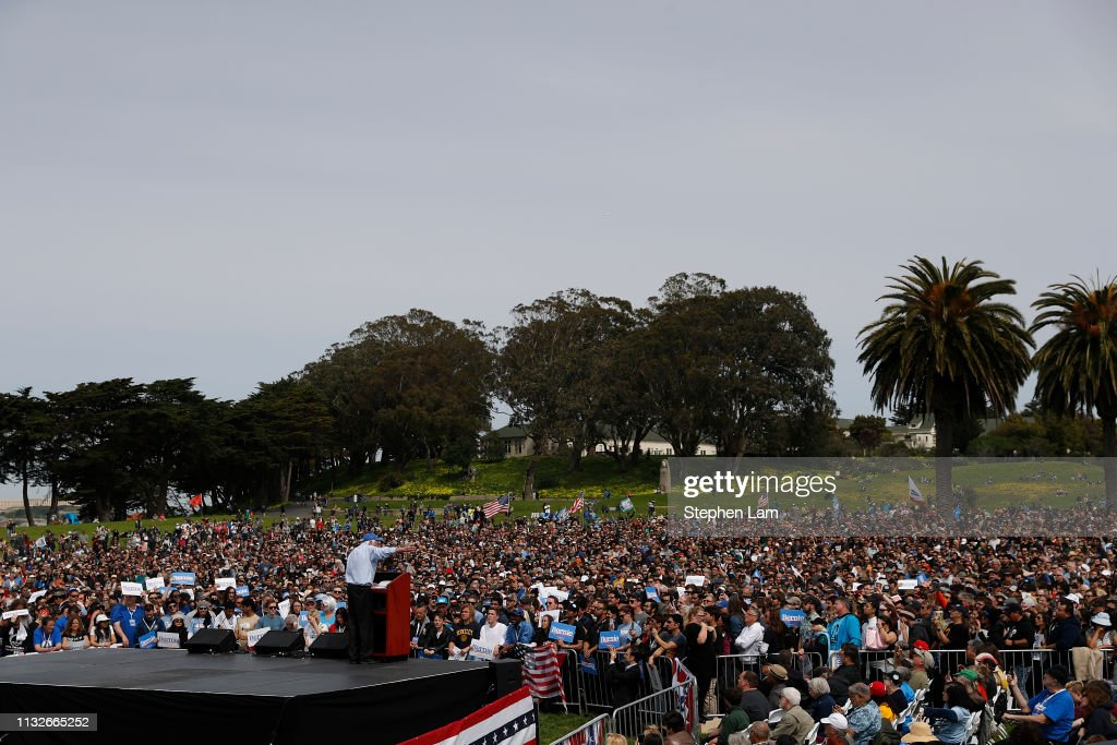CA: Democratic Presidential Candidate Bernie Sanders Holds Rally In San Francisco