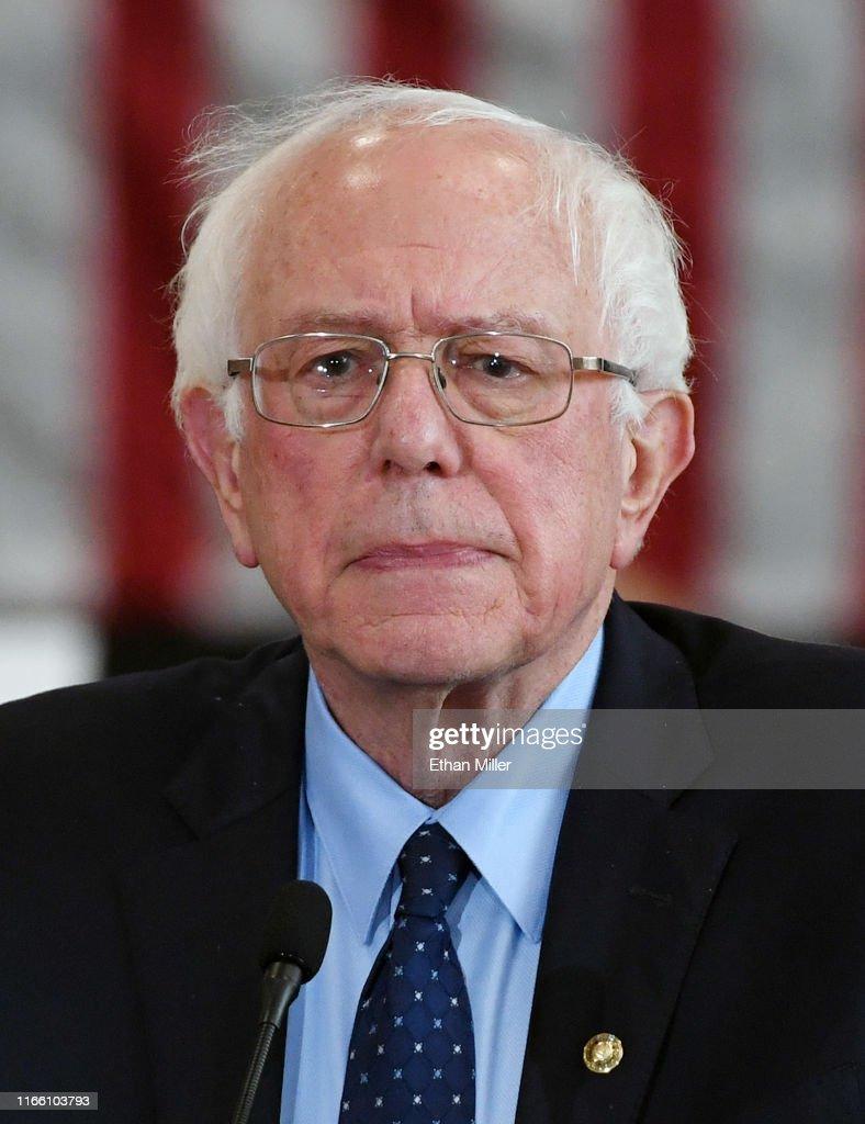 Bernie Sanders Holds Town Hall At North Las Vegas High School : News Photo