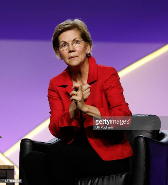 Democratic presidential candidate U.S. Sen. Elizabeth Warren participates in a Presidential Candidates Forum at the NAACP 110th National Convention...