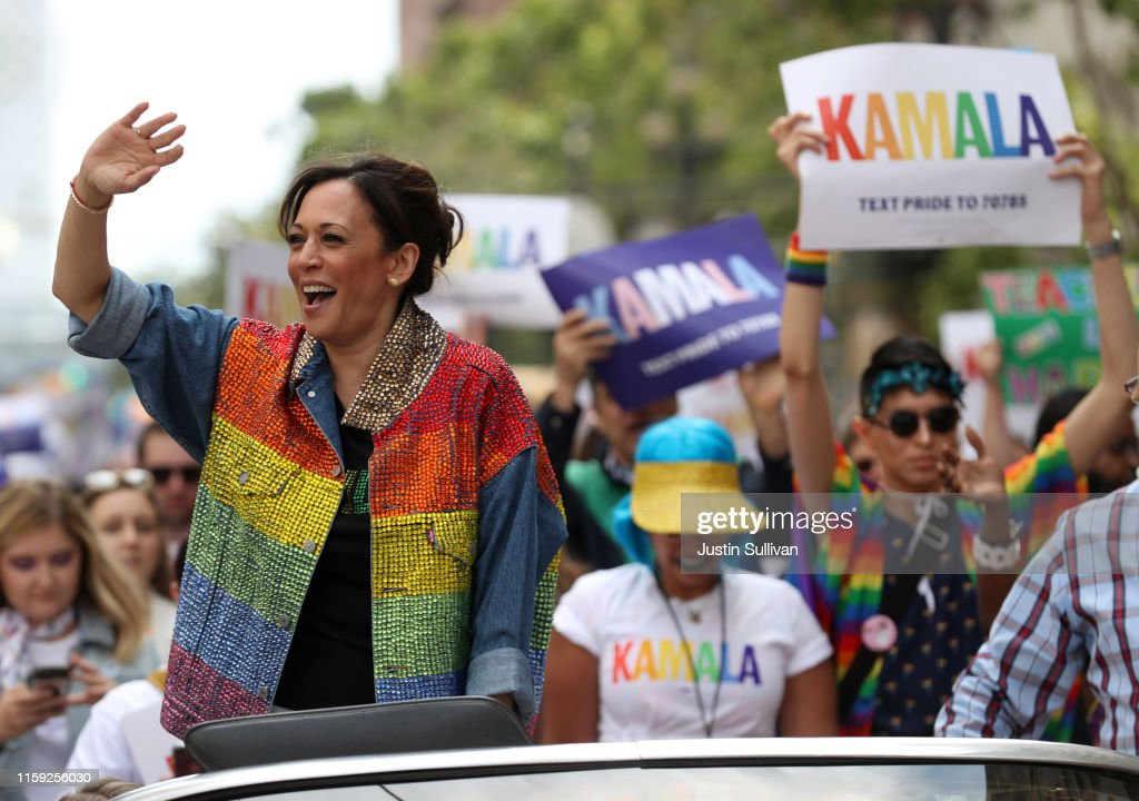 Kamala Harris Participates In San Francisco's Annual Pride Parade : News Photo